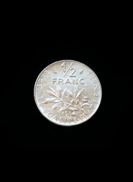 Prancūzija, 1/2 franko, 1984m