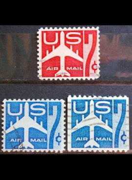 JAV, oro paštas ScNr C51-C52, C60 Used(O)