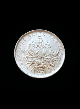 Prancūzija, 5 frankai 1971m