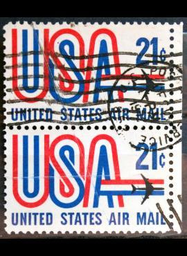 JAV, oro paštas pora ScNr C81 Used(O)