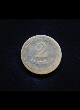 Saksas-Koburgas ir Gota, 2 pfenigai 1852m