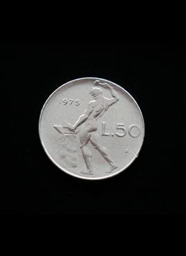 Italija, 50 lirų 1975m