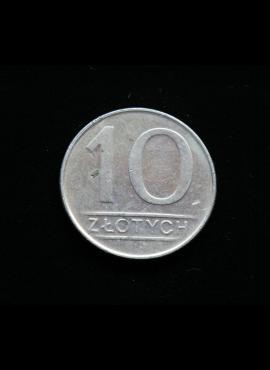 Lenkija, 10 zlotų 1988m MW