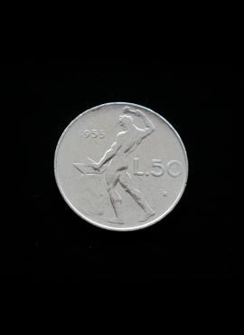 Italija, 50 lirų 1955m