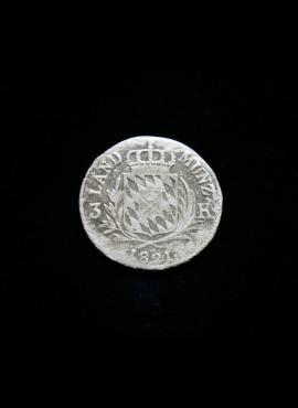 Bavarija, SIDABRINIAI 3 kreiceriai 1821m