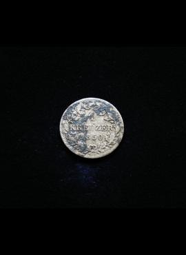 Bavarija, SIDABRINIS 1 kreiceris 1850m