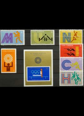 Kuba, pilna serija + blokas ScNr 1715-1722 MNH** G