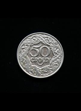 Lenkija, 50 grašių 1923m