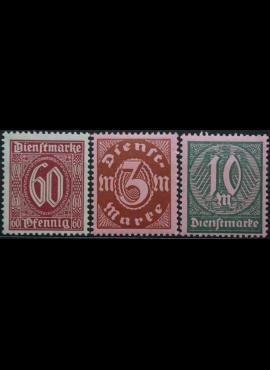 Vokietijos Reichas, tarnybiniai, pilna serija, MiNr 66-68 MNH**
