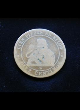 Ispanija, 10 sentimų 1870m E