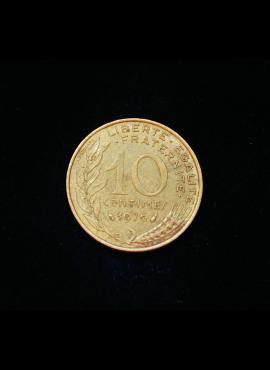 Prancūzija, 10 santimų 1976m