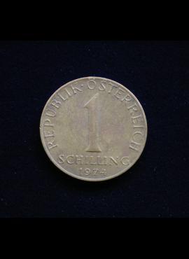 Austrija, 1 šilingas, 1974m