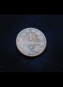 Austrija, 1 kreiceris 1860m - B E