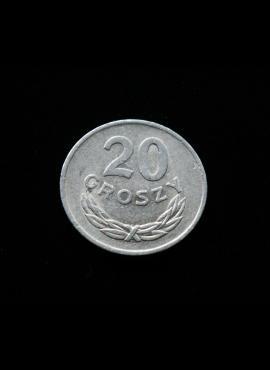 Lenkija, 20 grašių 1977m MW