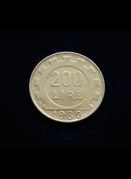 Italija, 200 lirų 1980m