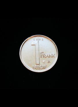 Belgija (Belgie), 1 frankas, 1998m