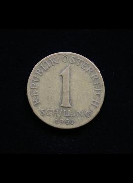 Austrija, 1 šilingas, 1961m