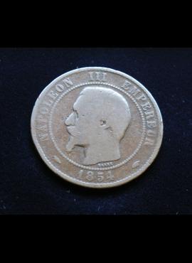 Prancūzija, 10 santimų 1854m-A E