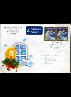 Latvija, 1994m meninis vokas su MiNr 382