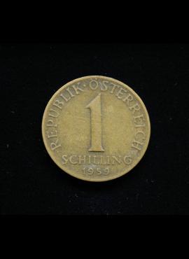Austrija, 1 šilingas, 1959m