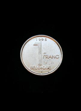 Belgija (Belgique), 1 frankas, 1995m