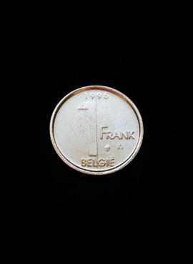 Belgija (Belgie), 1 frankas, 1995m