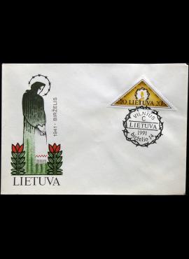 Lietuva, 1991m pirmos dienos vokas su MiNr 477