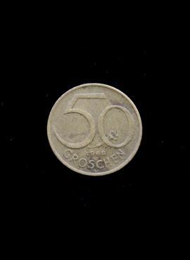 Austrija, 50 grošenų, 1968m