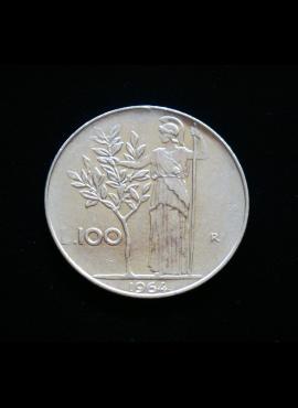 Italija, 100 lirų 1964m