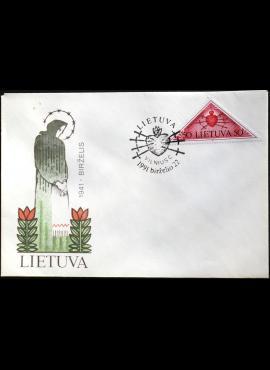 Lietuva, 1991m pirmos dienos vokas su MiNr 478