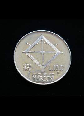 Italija, proginės 100 lirų 1974m