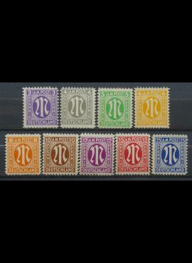 Pokario Vokietija, Amerikiečių/Britų zona, pilna serija MiNr 1-9 MNH**
