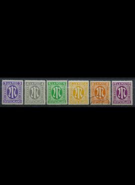 Pokario Vokietija, Amerikiečių/Britų zona, pilna serija MiNr 10-15 MNH**/Used(O)