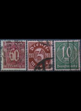Vokietijos Reichas, tarnybiniai, pilna serija, MiNr 66-68 Used(O)