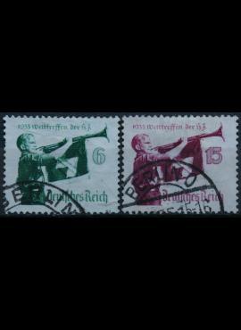 Vokietijos Reichas, pilna serija MiNr 584-585 Used(O)