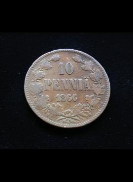 Suomija, 10 pensų 1866m E
