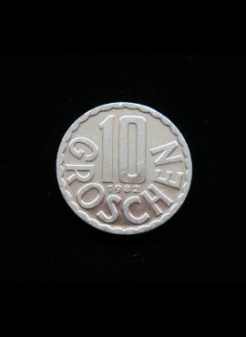 Austrija, 10 grošenų, 1982m