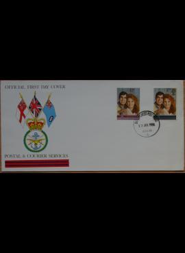 Didžioji Britanija, 1986m pirmos dienos vokas su ScNr 1154-1155