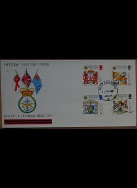 Didžioji Britanija, 1987m pirmos dienos vokas su ScNr 1184-1187