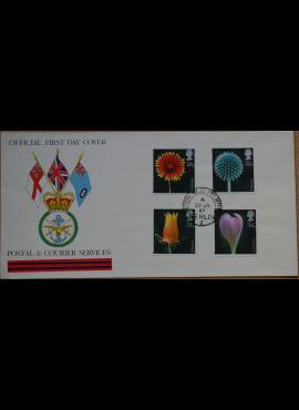 Didžioji Britanija, 1987m pirmos dienos vokas su ScNr 1168-1171
