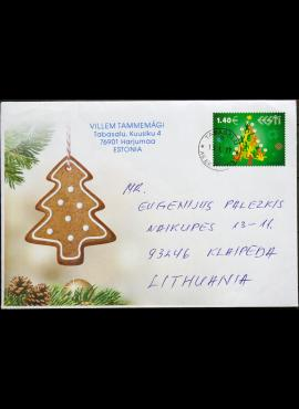Estija, 2017m Kalėdinis vokas E