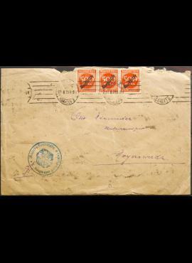 Vokietijos Reichas, 1923m vokas su 38 tarnybiniais pašto ženklais