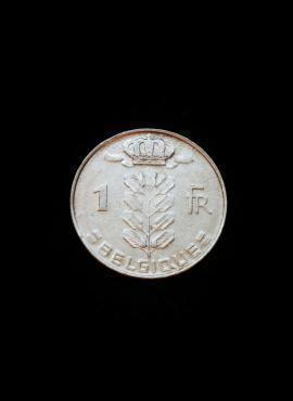 Belgija (Belgique), 1 frankas, 1977m