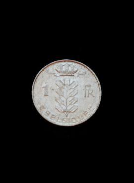 Belgija (Belgique), 1 frankas, 1970m