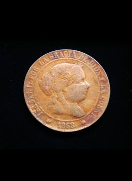 Ispanija, 5 sentimai 1868m OM*