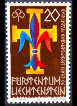 Lichtenšteinas ScNr 711 MNH**