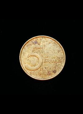 Belgija (Belgique), 5 frankai, 1998m