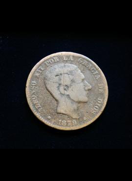Ispanija, 10 sentimų 1879m