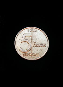 Belgija (Belgique), 5 frankai, 1994m