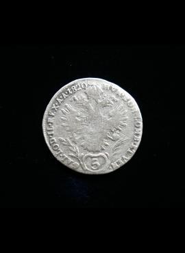 Austrija, SIDABRINIAI 5 kreiceriai, 1820m - A